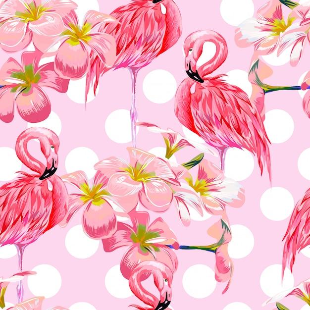 Aquarelle animaux feuilles florales sans soudure de fond Vecteur Premium