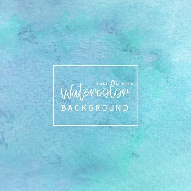 Aquarelle Bleu Et Vert Vecteur gratuit