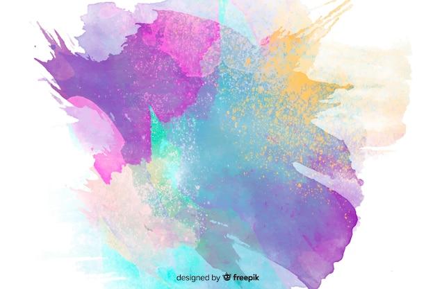 Aquarelle colorée abstraite Vecteur gratuit