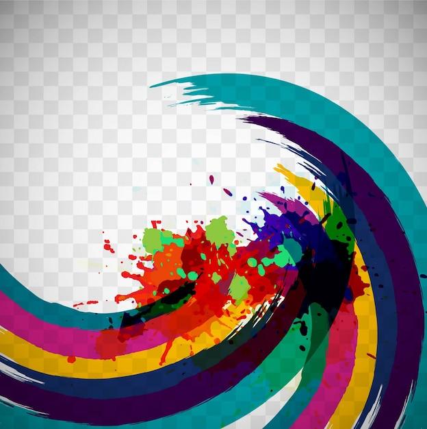 Aquarelle colorée Vecteur gratuit
