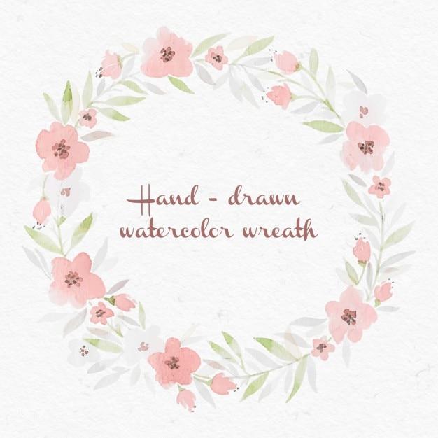Aquarelle couronne de fleurs t l charger des vecteurs for Aquarelle fleurs livraison gratuite