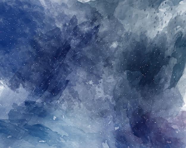 Aquarelle Espace Ciel étoilé Texture Aquarelle Vecteur Premium