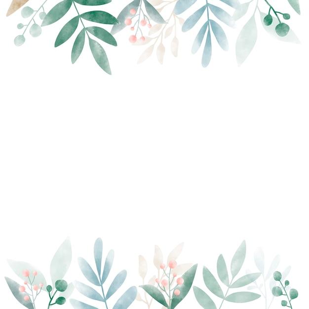 Aquarelle feuilles avec design espace copie Vecteur gratuit