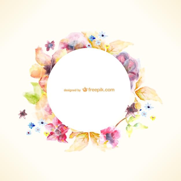 Aquarelle floral vecteur de l'art Vecteur gratuit