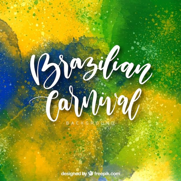 Aquarelle Fond De Carnaval Brésilien Vecteur gratuit