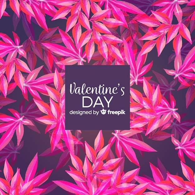 Aquarelle fond saint valentin Vecteur gratuit