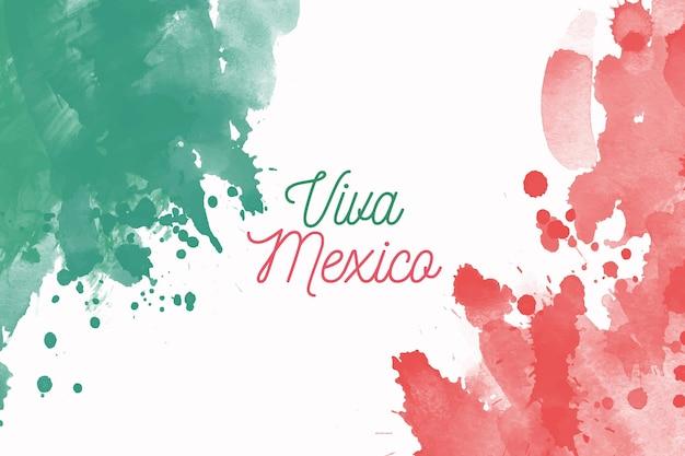 Aquarelle Independencia De México Vecteur Premium