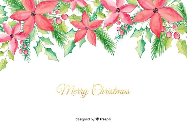Aquarelle Joyeux Noël Fond Vecteur gratuit