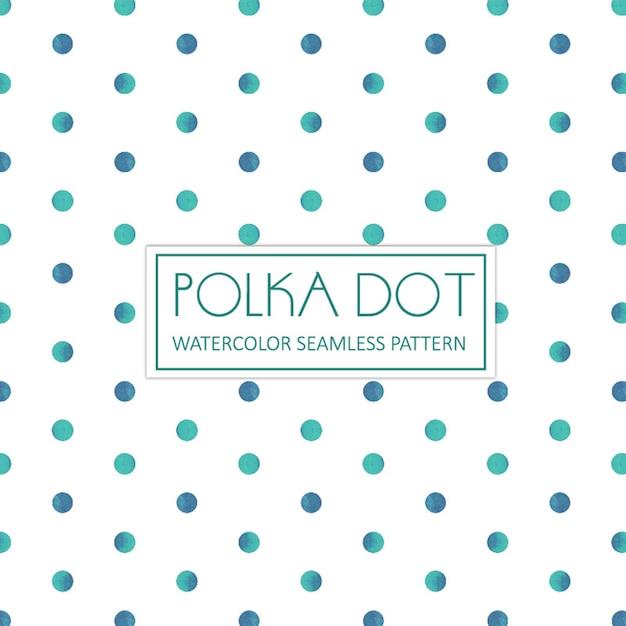 Aquarelle Polka Dot Background Vecteur gratuit