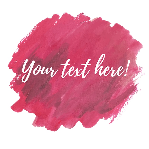 Aquarelle rose avec modèle de texte Vecteur gratuit