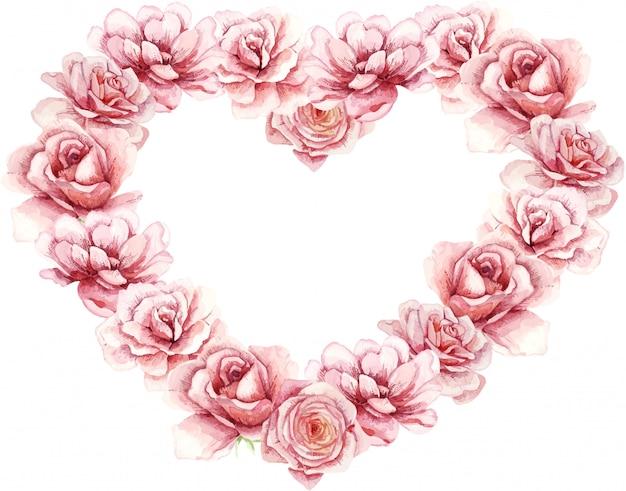 Aquarelle Saint Valentin, Super Design Pour Toutes Fins Vecteur Premium