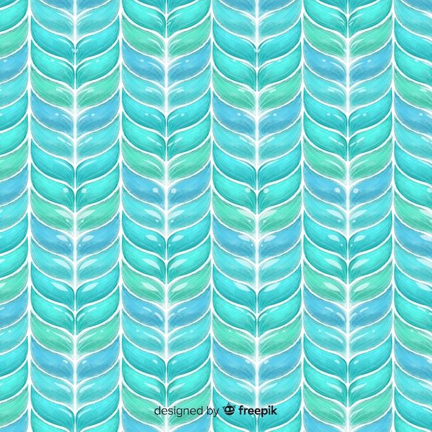 Aquarelle en tricot de fond Vecteur gratuit