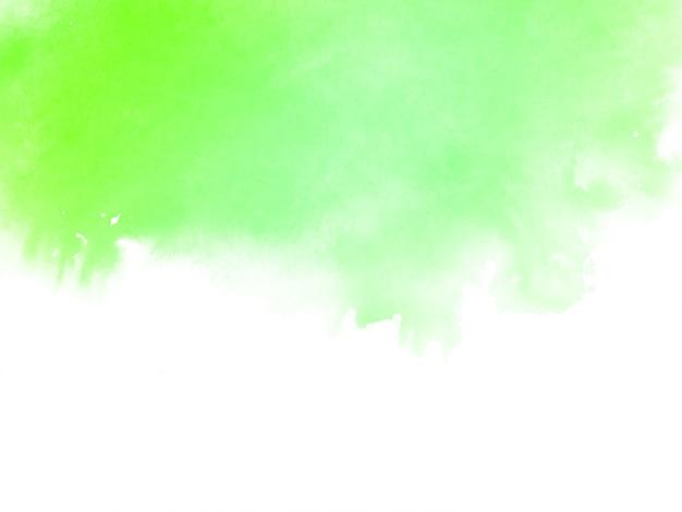 Aquarelle Verte Abstraite Vecteur gratuit