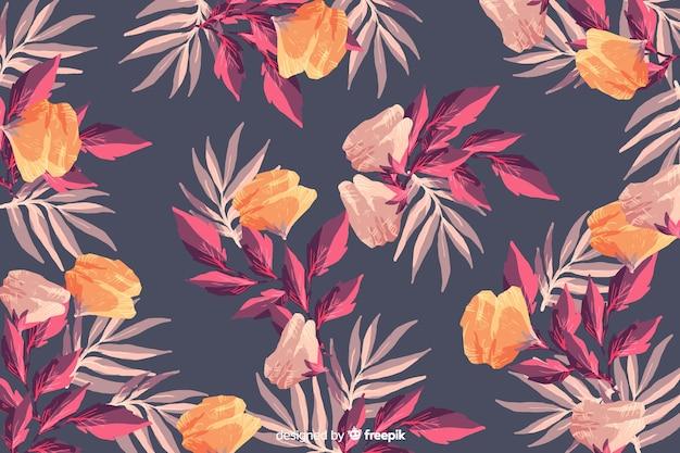 Aquarelle Vintage Floral Fond Sans Couture Vecteur gratuit