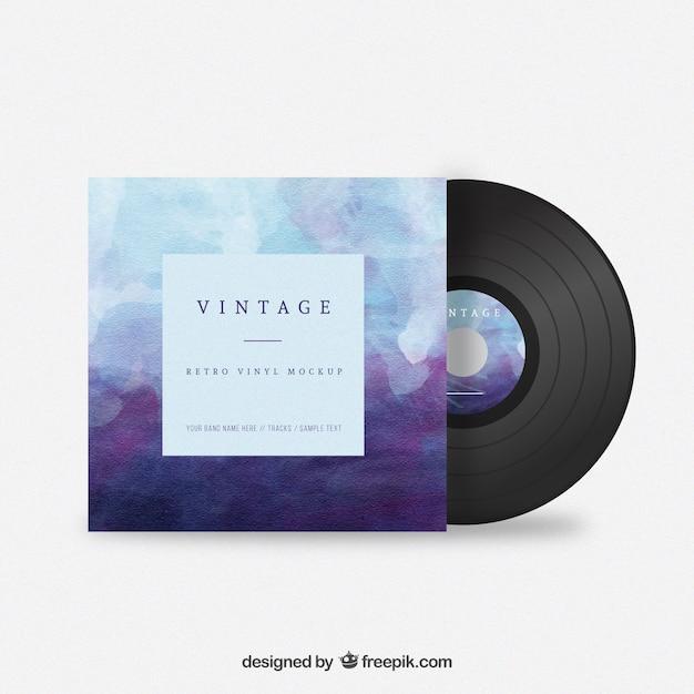 Aquarelle Vintage Vinyl Vecteur Premium