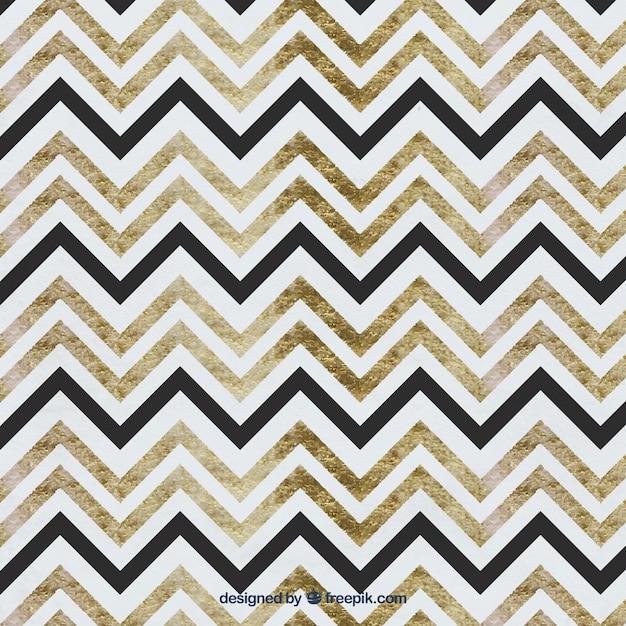 Aquarelle zig zag pattern Vecteur gratuit
