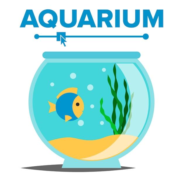 Aquarium cartoon Vecteur Premium