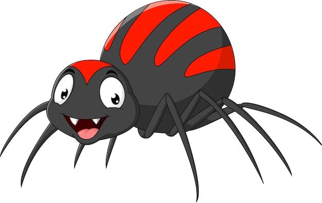 Araignée drôle de dessin animé | Télécharger des Vecteurs Premium