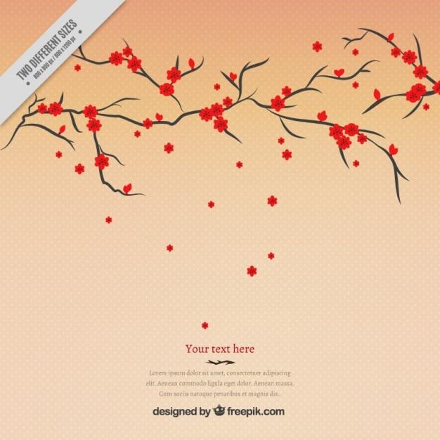 Arbre fleurs rouges fond t l charger des vecteurs gratuitement - Arbres a fleurs rouges ...