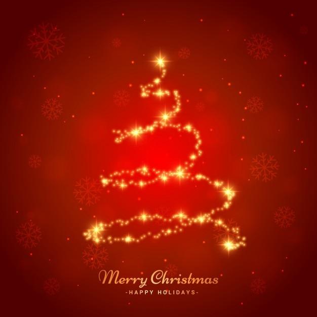 arbre de Noël brillant Vecteur gratuit