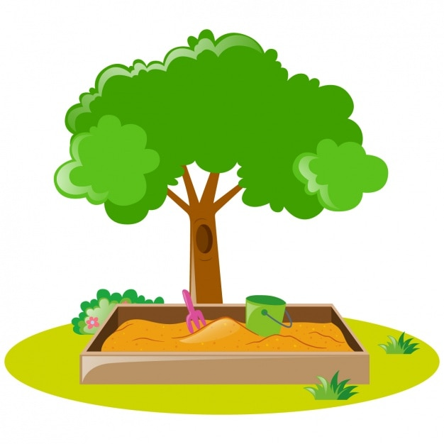 Arbre et bac sable conception t l charger des vecteurs gratuitement - Bac a arbre ...