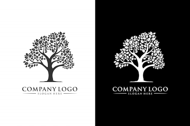 Arbre Logo Inspiration Design Moderne Vecteur Premium