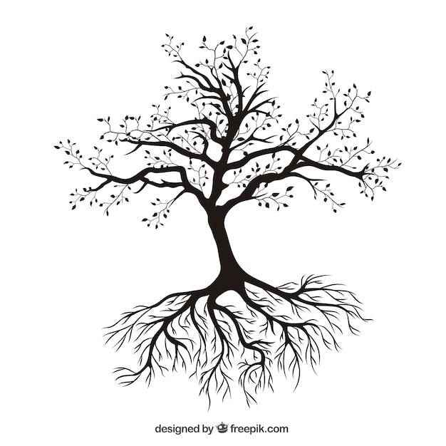 Arbre Avec Racine arbre avec des racines | télécharger des vecteurs gratuitement