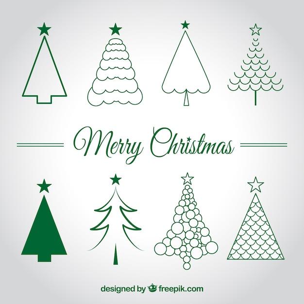 Arbres de Noël croquis | Télécharger des Vecteurs gratuitement