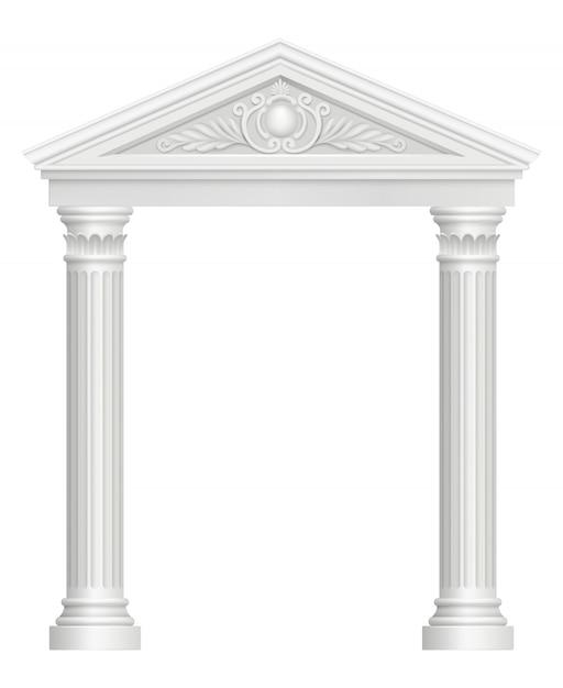 Arc Antique. Colonnade Palace Palace Architectural Baroque Style Images Réalistes Vecteur Premium