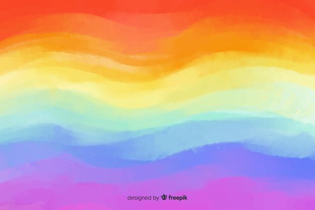 Arc-en-ciel dans un style tie-dye Vecteur gratuit