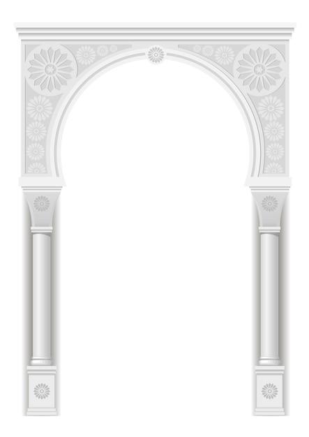 Arc dans le style arabe Vecteur Premium