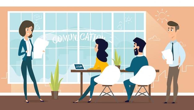 L'architecte discute du projet avec le client. Vecteur Premium