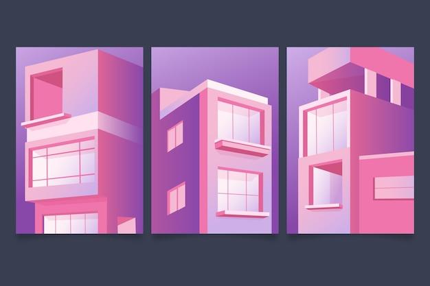 L'architecture Minimale Couvre Le Thème Vecteur gratuit