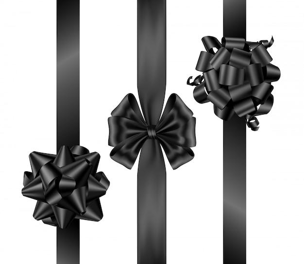Arcs De Vendredi Noir Avec Des Rubans Verticaux Vue De Dessus Vecteur gratuit