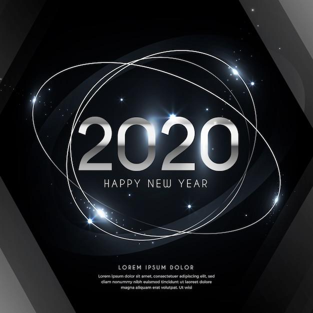 Argent Nouvel An 2020 Vecteur gratuit