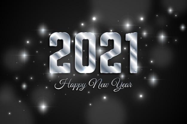 Argent Nouvel An 2021 Vecteur gratuit