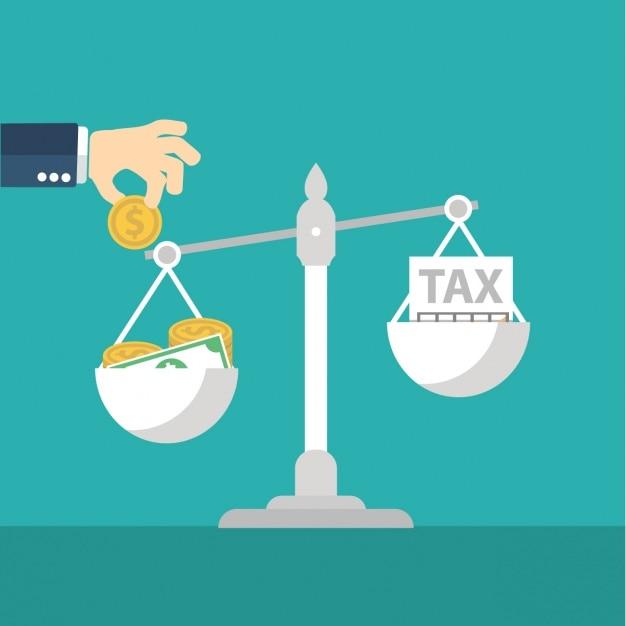 Argent et taxes Vecteur gratuit