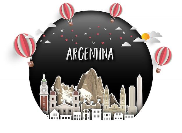 Argentine landmark Vecteur Premium