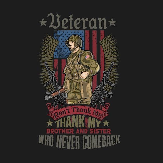 Armée américaine grunge drapeau illustration vecteur Vecteur Premium