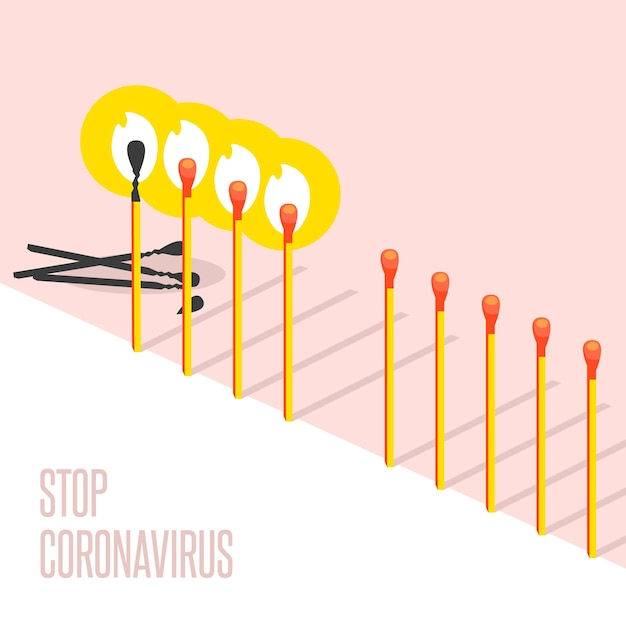 Arrêter La Collecte Des Correspondances De Coronavirus Vecteur gratuit