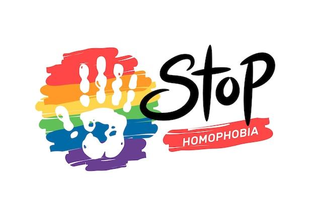 Arrêter Le Concept D'homophobie Vecteur Premium