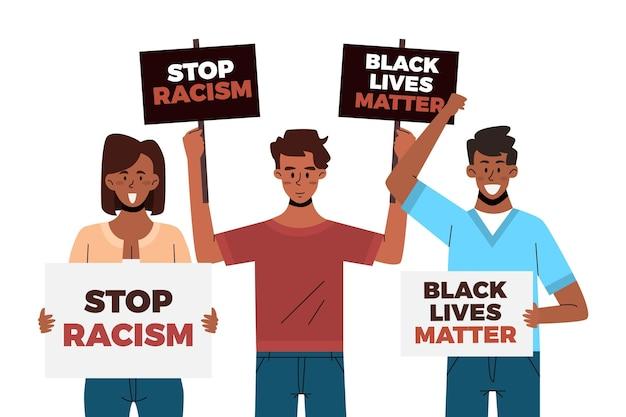 Arrêter Le Concept D'illustration Du Racisme Vecteur gratuit