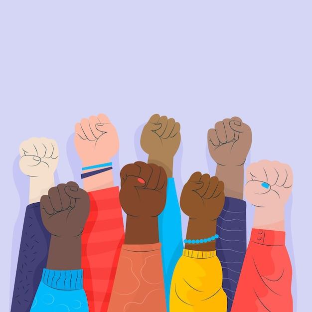 Arrêter Le Concept De Racisme Vecteur gratuit