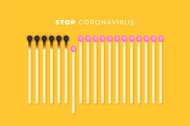 Arrêter Le Coronavirus Correspond Au Concept Vecteur gratuit