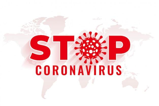 Arrêter Le Fond Du Coronavirus Avec La Conception Du Symbole Du Virus Vecteur gratuit