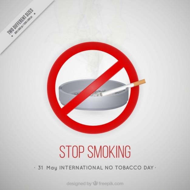 Arrêter de fumer fond Vecteur gratuit