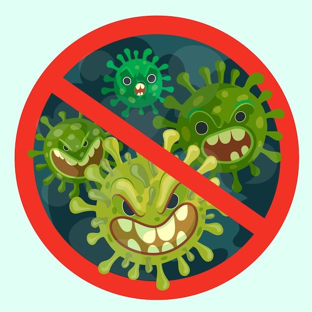 Arrêter L'illustration Du Coronavirus Vecteur gratuit