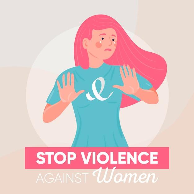 Arrêter La Violence Contre Le Concept De Femmes Vecteur gratuit