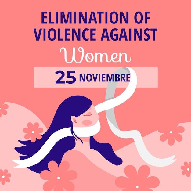 Arrêter La Violence Contre Les Femmes Vecteur Premium