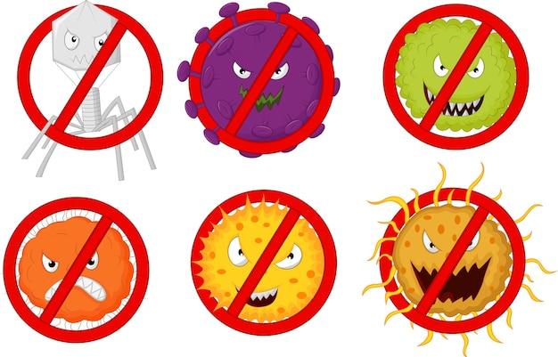 Arrêter le virus Vecteur Premium